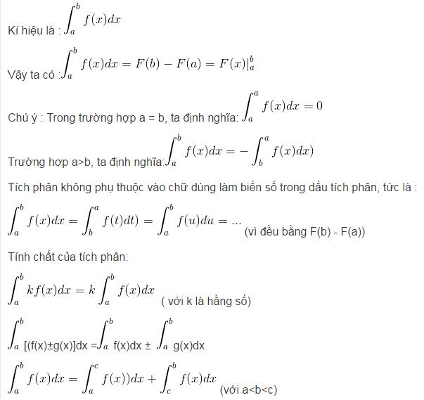 Lý thuyết tích phân