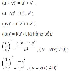 Quy tắc tính đạo hàm-1