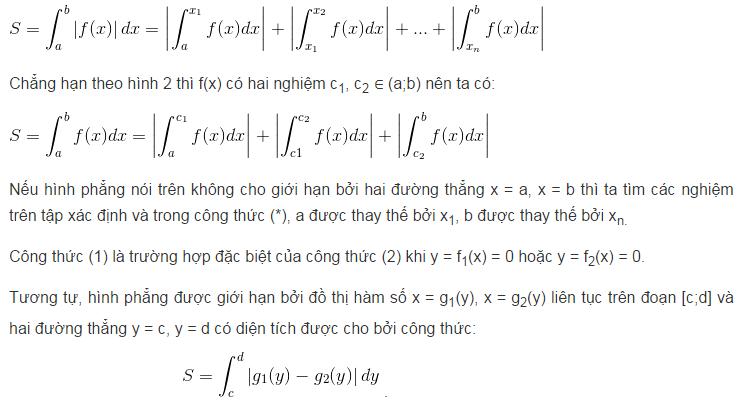 Ứng dụng của tích phân trong hình học-2