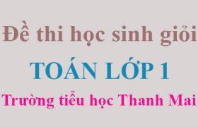 Đề thi học sinh giỏi lớp 1 môn Toán trường tiểu học Thanh Mai