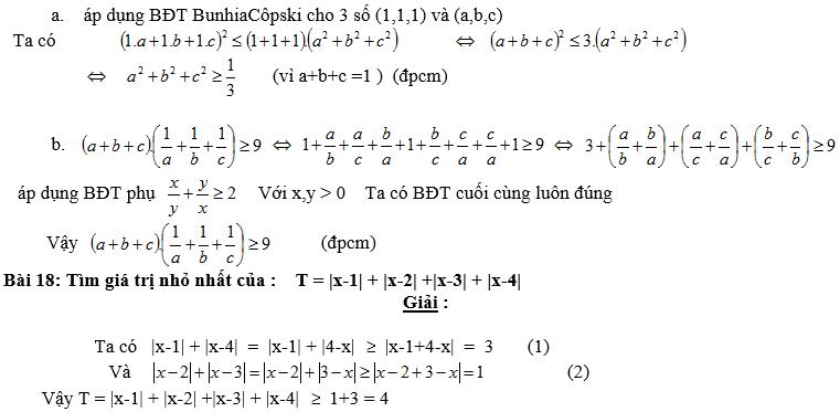 Bất đẳng thức, tìm giá trị min-max của biểu thức-10