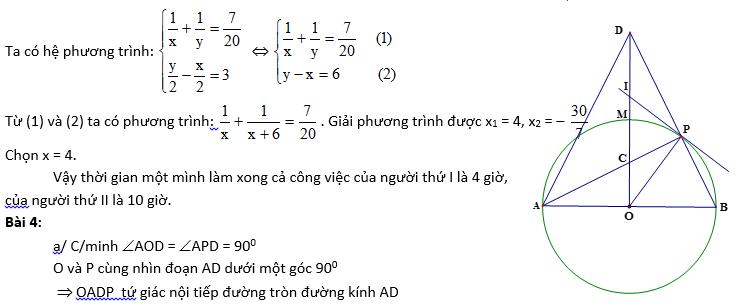 Đề thi Toán vào lớp 10 Quảng Ngãi năm học 2014-2015-2
