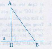 Quan hệ giữa đường vuông góc và đường xiên, đường xiên và hình chiếu-1