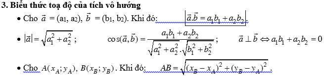 Bài tập tích vô hướng của hai vectơ - Hình học 10-2