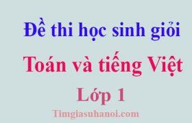 Bộ đề thi học sinh giỏi Toán và tiếng Việt lớp 1