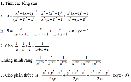 Các dạng bài tập Toán nâng cao lớp 8 tự giải-2