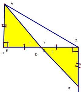 Cách chứng minh 3 điểm thẳng hàng qua các ví dụ - Toán lớp 7-1