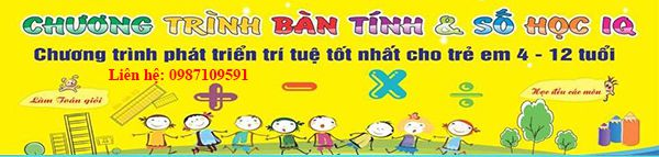 Khóa học bàn tính và số học IQ tại thành phố Nam Định