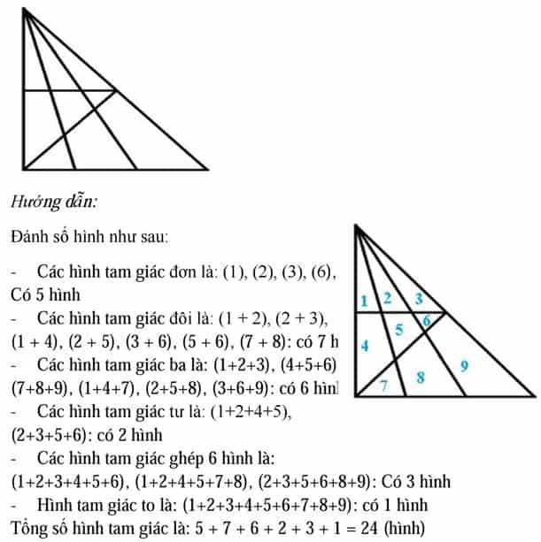 Phương pháp đếm hình tam giác, hình vuông, hình chữ nhật-3