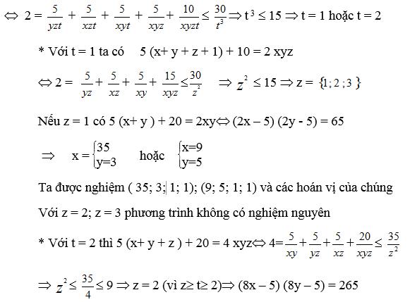 Một số phương pháp giải phương trình nghiệm nguyên-1