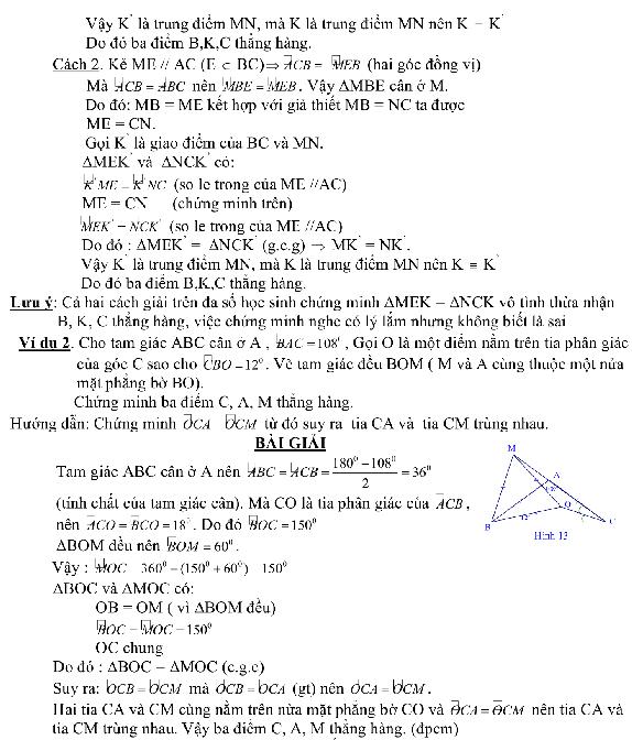 Phương pháp chứng minh 3 điểm thẳng hàng-5