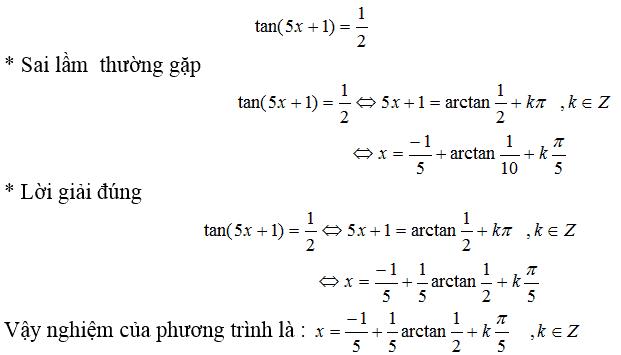 Một số sai lầm khi giải phương trình lượng giác