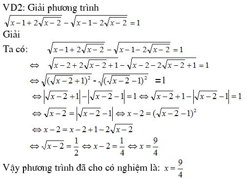 4 phương pháp giải phương trình vô tỷ - Trung tâm Gia sư Hà Nội-2