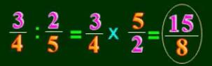 Cách chia phân số cho phân số - Toán lớp 4