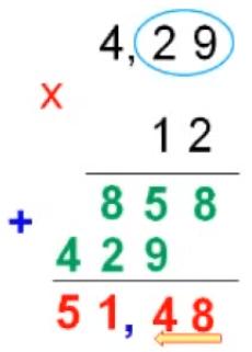 Cách nhân số thập phân với số tự nhiên - Toán lớp 5-1