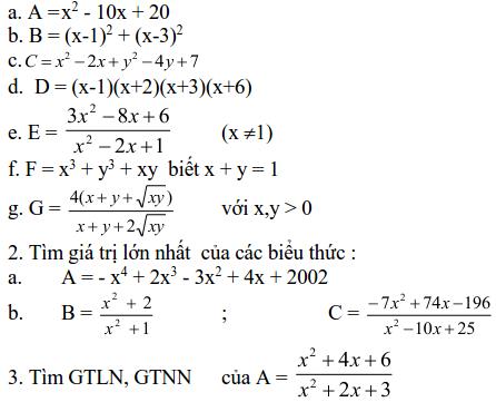 Sử dụng phép biến đổi đồng nhất để tìm cực trị (GTLN, GTNN)-4
