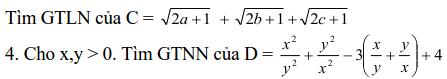 Sử dụng phương pháp đặt biến phụ để tìm GTLN, GTNN-3