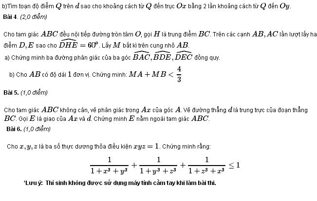 Đề thi HSG môn Toán lớp 9 TP Đà Nẵng năm học 2011 - 2012-2