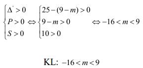 Điều kiện về nghiệm của phương trình bậc hai-5