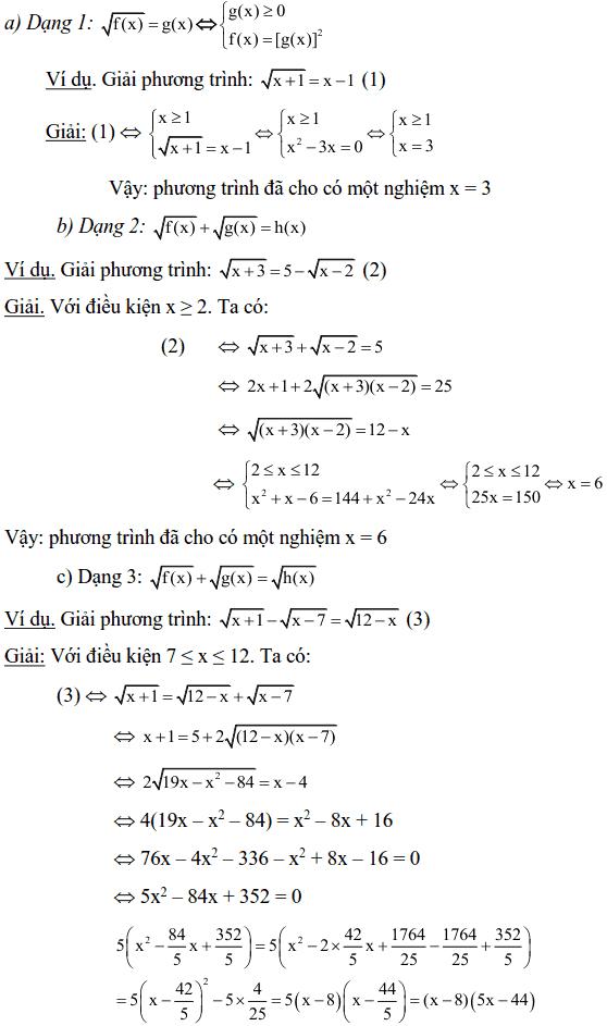 Một số phương pháp giải phương trình vô tỉ-1
