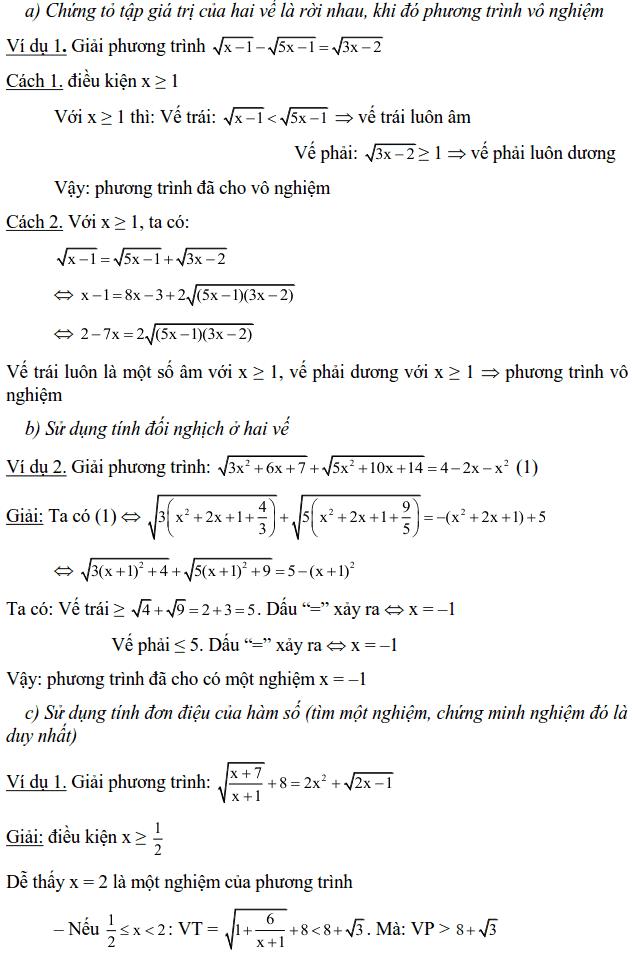 Một số phương pháp giải phương trình vô tỉ-3