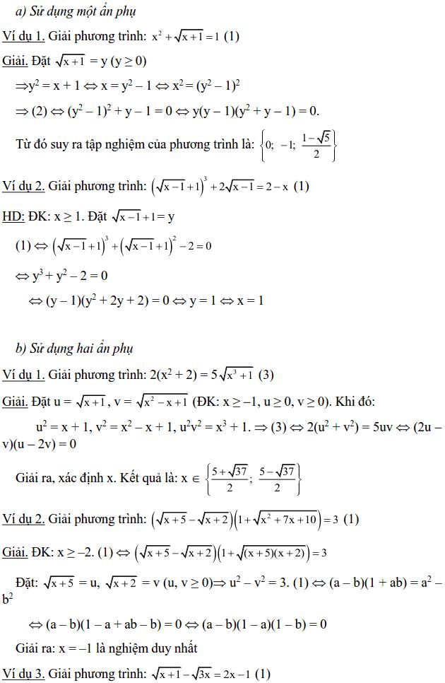 Một số phương pháp giải phương trình vô tỉ-7