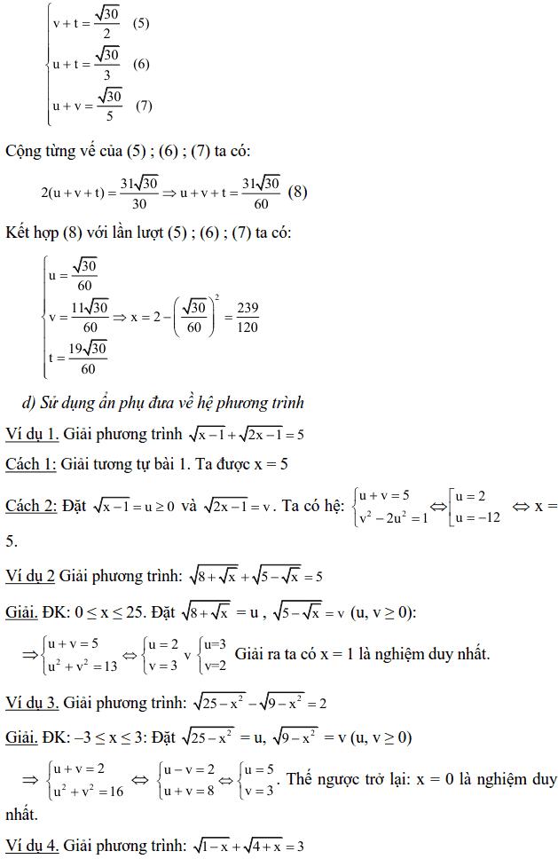Một số phương pháp giải phương trình vô tỉ-9