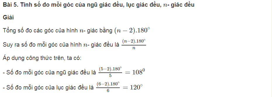Các bài tập thuộc chương đa giác, diện tích đa giác cơ bản
