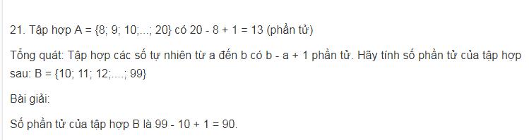 Các dạng toán thuộc phần số phần tử của tập hợp, tập hợp con cơ bản