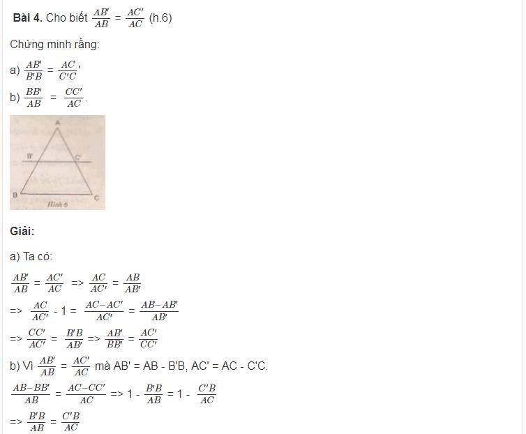 Kiến thức cơ bản Tam giác đồng dạng - Toán lớp 8