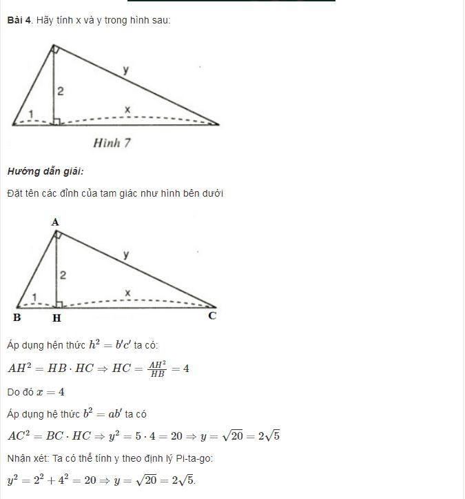 Ôn tập dạng toán phần Hệ thức lượng trong tam giác vuông - Toán lớp 9-3