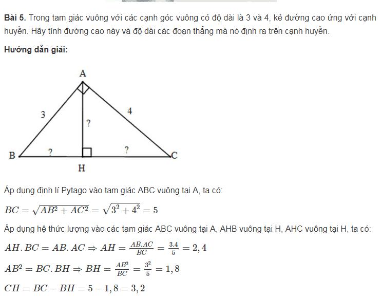 Ôn tập dạng toán phần Hệ thức lượng trong tam giác vuông - Toán lớp 9-4