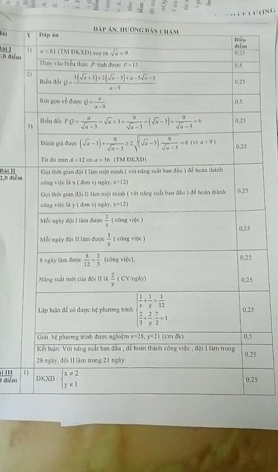 Đề khảo sát chất lượng môn Toán 9 quận Long Biên 2017 - 2018 có đáp án-1