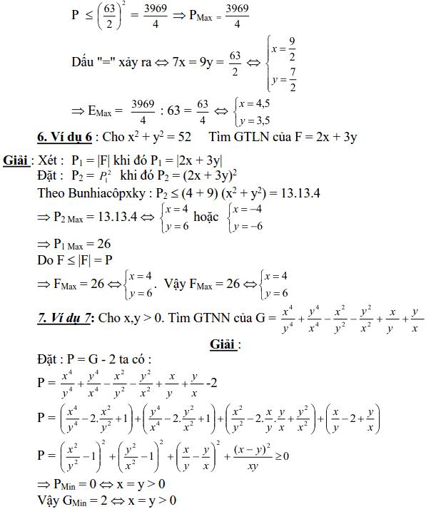 Sử dụng biểu thức phụ để tìm để tìm GTLN, GTNN của biểu thức