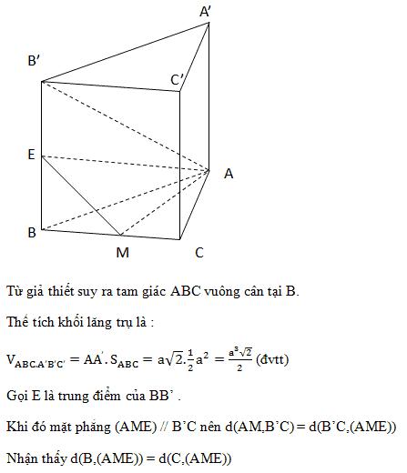 Cách tính khoảng cách giữa 2 đường thẳng chéo nhau trong không gian