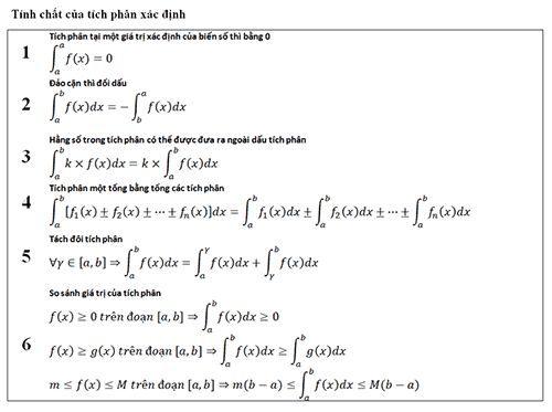 Các khái niệm về tích phân