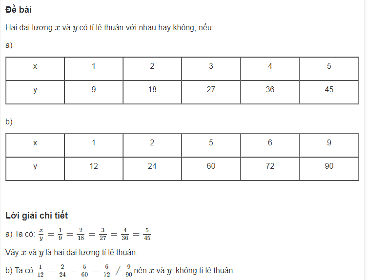 Cách giải bài toán liên quan đến một số đại lượng tỉ lệ thuận-1