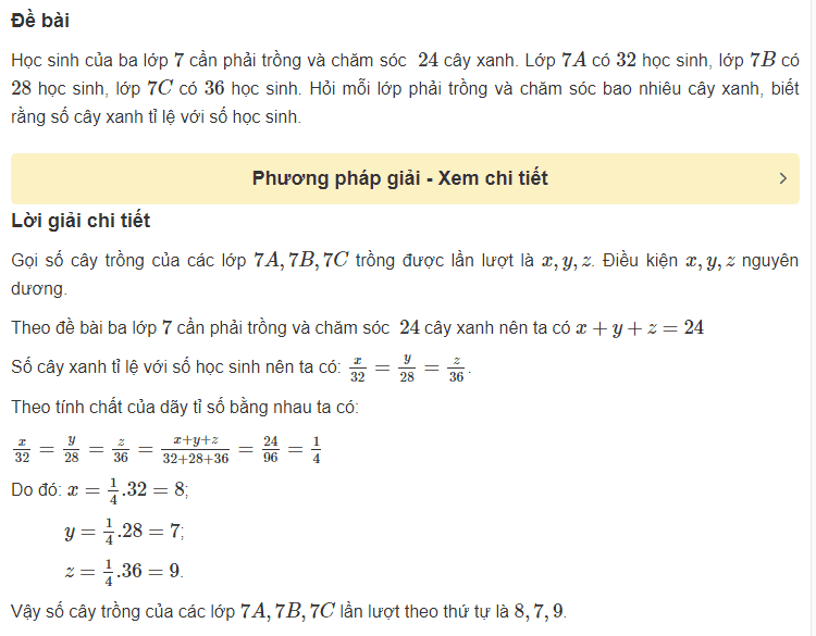 Cách giải bài toán liên quan đến một số đại lượng tỉ lệ thuận-4