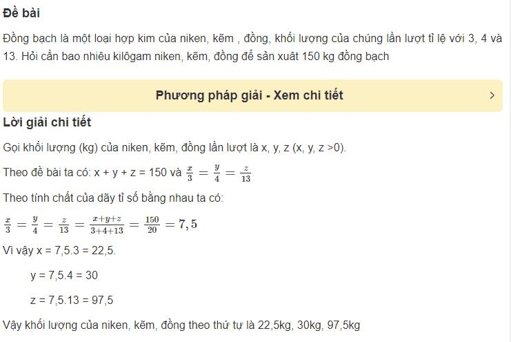 Cách giải bài toán liên quan đến một số đại lượng tỉ lệ thuận-5