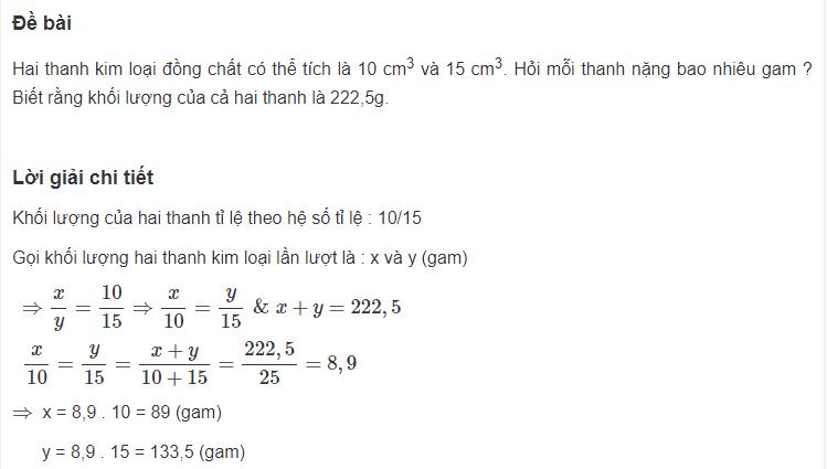 Cách giải bài toán liên quan đến một số đại lượng tỉ lệ thuận