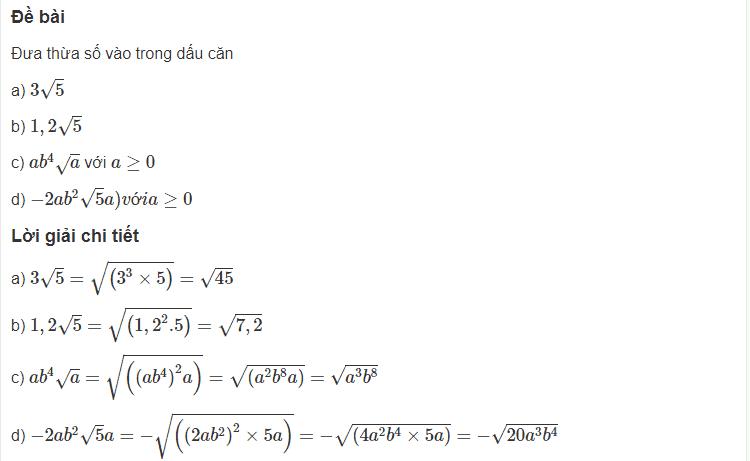 Cách rút gọn biểu thức chứa căn thức bậc hai-1