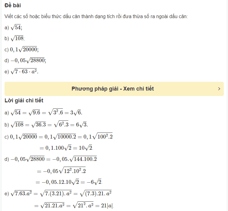 Cách rút gọn biểu thức chứa căn thức bậc hai-2