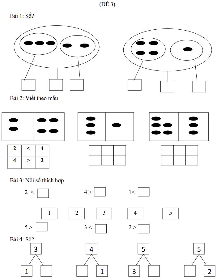 Phiếu bài tập tuần 3 - Toán lớp 1-2