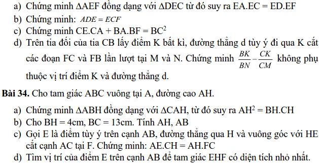Đề cương ôn tập HK2 môn Toán 8 THCS Nghĩa Tân 2018-2019