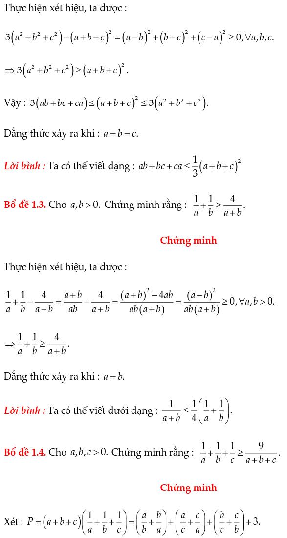 Các bổ đề thường dùng chứng minh bất đẳng thức-1