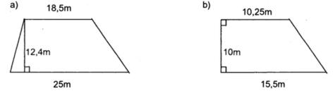 Bài tập về hình thang, tính diện tích hình thang có lời giải - Toán lớp 5