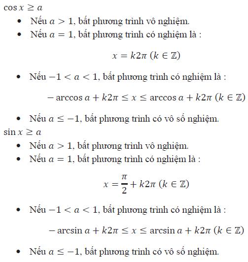 Cách giải bất phương trình lượng giác